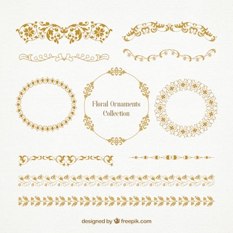 Floral ornaments collection