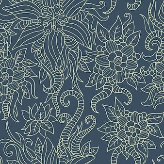 Floral outlined pattern