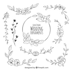 Floral pack of wedding decoration