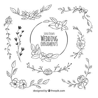 結婚式の装飾の花のパック