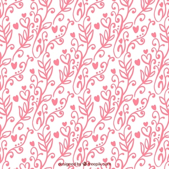 Floral pattern for valentine's day