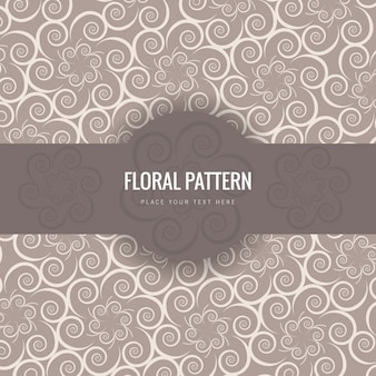 Floral pattern in victorian style