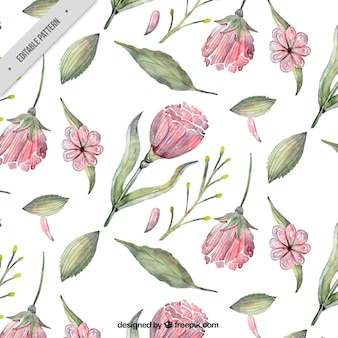 Floral pattern in watercolor style