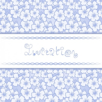 Floral pattern Invitation Card Template