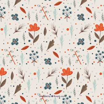 Floral pattern with orange flowers