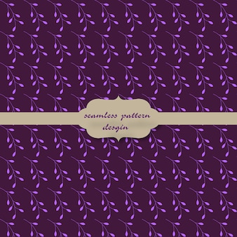 Floral pattern with purple background
