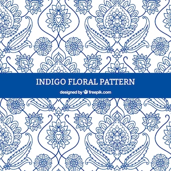 Floral pattern with white background