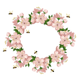 Floral ring background