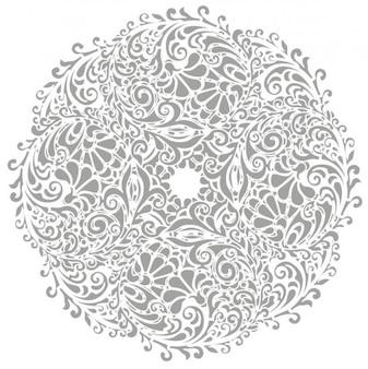 floral round background vector illustration