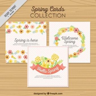 Floral spring cards