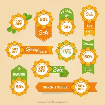 Floral spring sale ribbon and badge collection