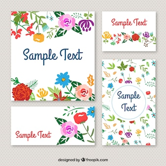 Floral stationery in colorful style