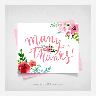 Floral thank you card background