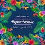 Floral tropical paradise background