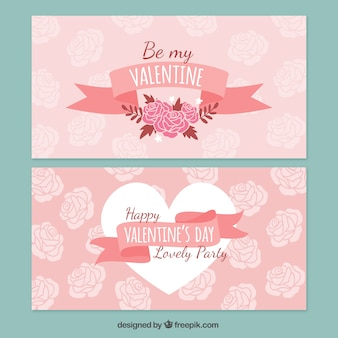 Floral Valentine's cards
