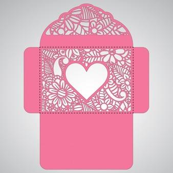 Floral valentine's envelope