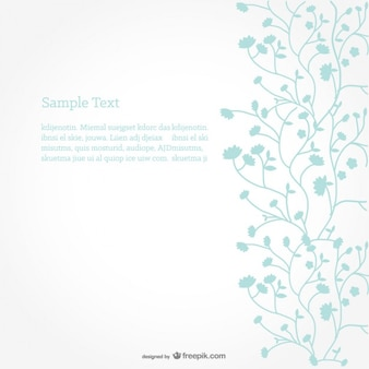 Floral Vector Background Minimalist Design