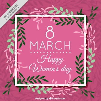 Floral vintage woman day background