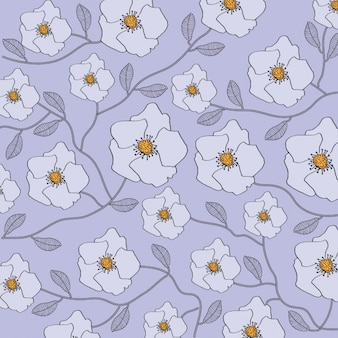 Floral violet background