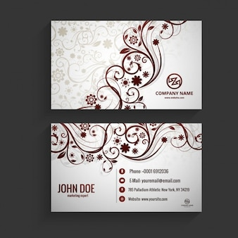 Floral visiting card