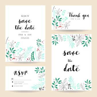 Floral wedding cards collection