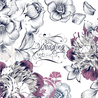 Floral wedding design