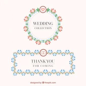 Floral wedding frames