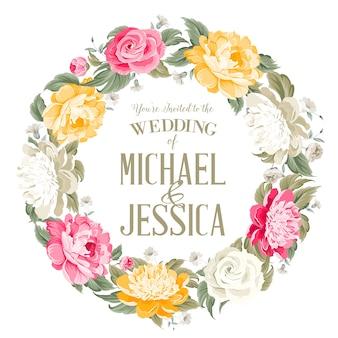 Floral wedding invitation design