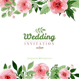 Watercolour Wedding Invitations for awesome invitations sample