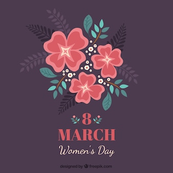 Floral Women Day Card