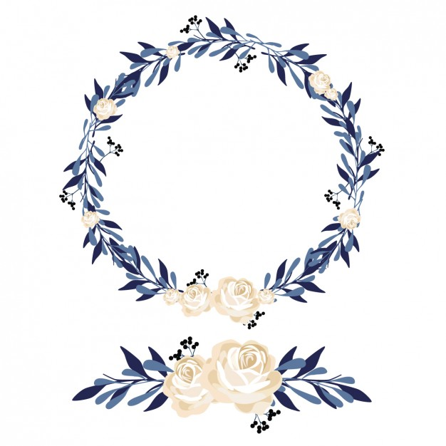 Floral wreath and ornament design
