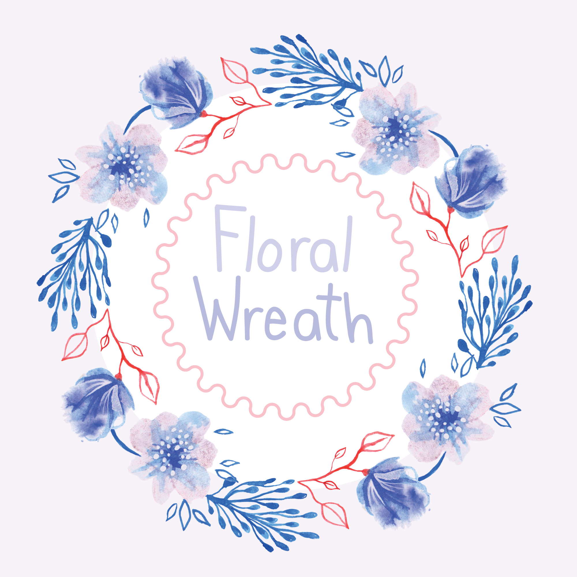 Floral wreath background design