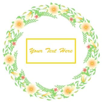 Floral wreath background design