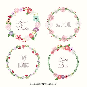 Floral wreaths for weeding