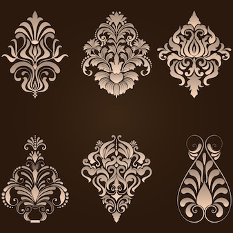 Flower backdrop classical seamless antique