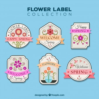 Flower label collection