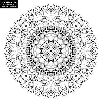 Flower Mandala. Vintage decorative elements. Oriental pattern, vector illustration. Islam, Arabic, Indian, moroccan,spain, turkish, pakistan, chinese, mystic, ottoman motifs. Coloring book page
