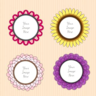 Flower photo collage