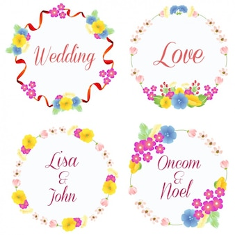 Flower wreaths collection