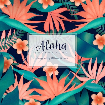 Flowered aloha background