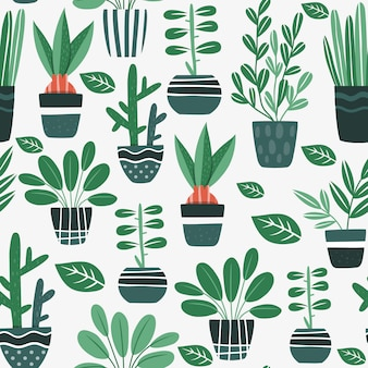 Flowerpots pattern design