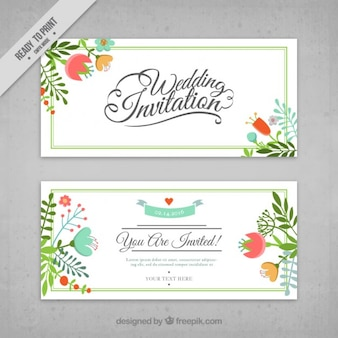 Flowers wedding cards