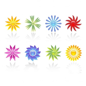 Flowers with shiny effect