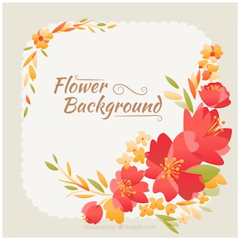 Flowery background in vintage style