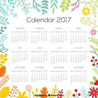 Flowery calendar 2017