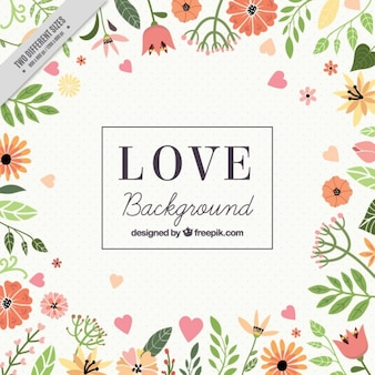 Flowery love background