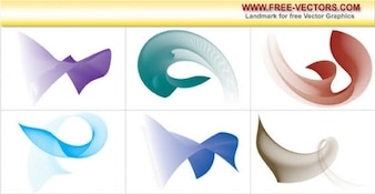Flowing Curves Free Vector
