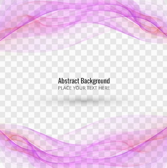 Flowing purple wavy shapes on transparent background