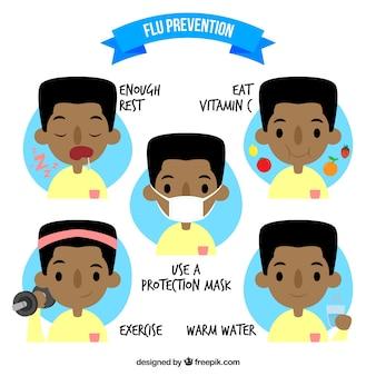 Flu prevention set