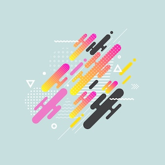 Fluid color cover design with gradient vector illustration
